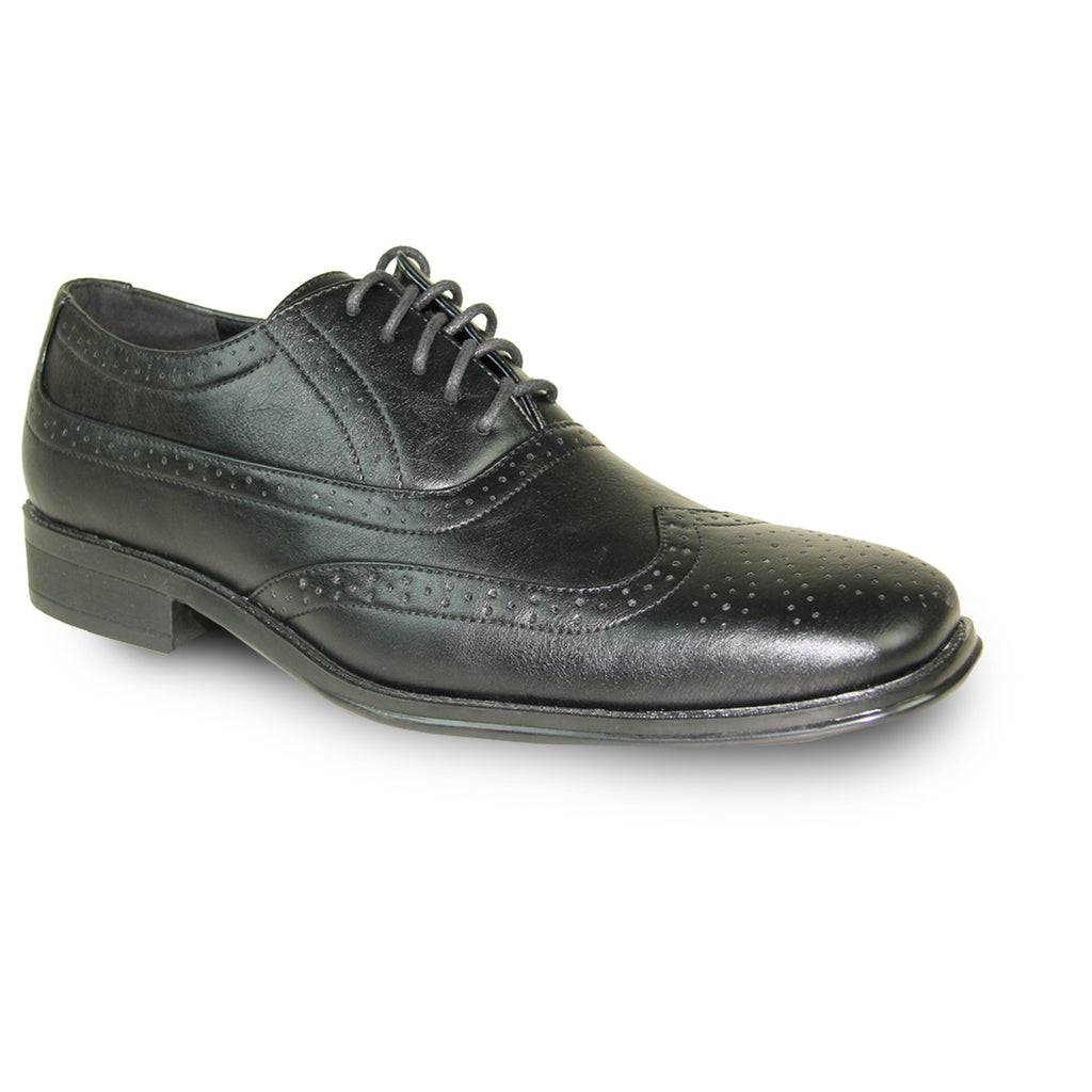cd81d61f016b BRAVO Men Dress Shoe MILANO-1 Wingtip Oxford Shoe Black – Bravo Shoes