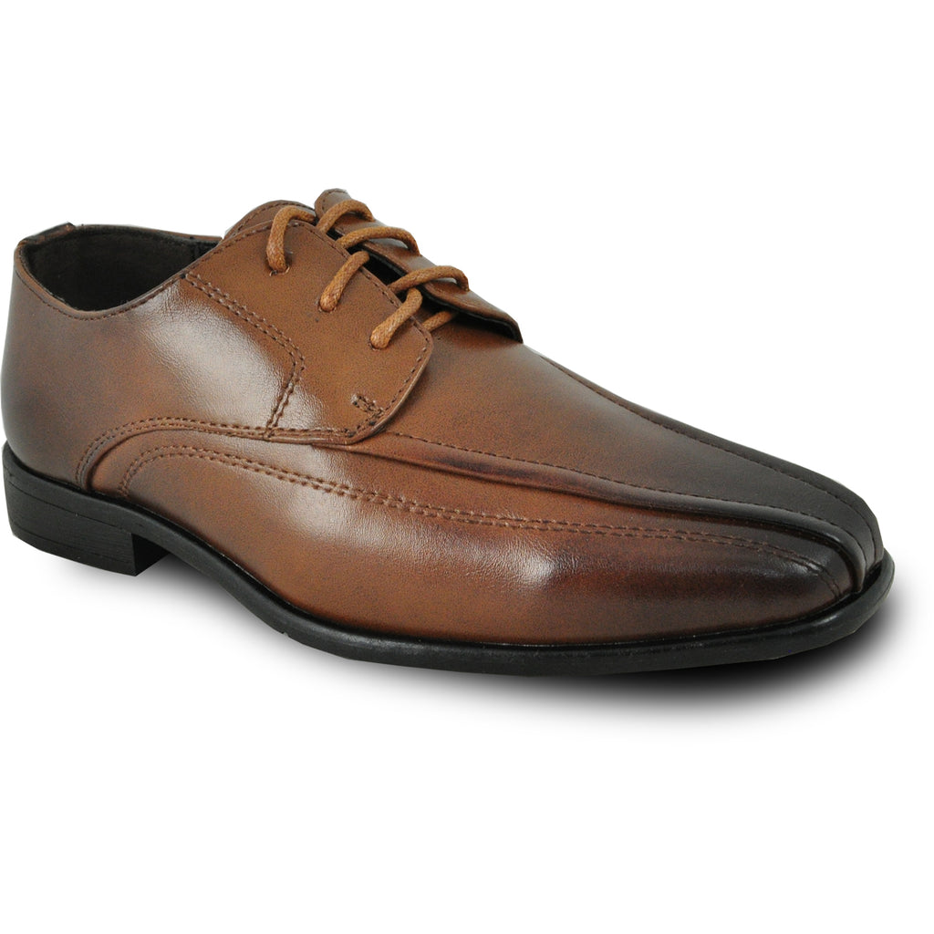 BRAVO Boy Dress Shoe MILANO-3KID Oxford Shoe Brown