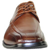 BRAVO Men Dress Shoe MILANO-3 Oxford Shoe Brown