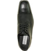 BRAVO Men Dress Shoe NEW KELLY-2 Oxford Shoe Black Matte - Wide Width Available