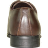 BRAVO Men Dress Shoe NEW KELLY-3 Oxford Shoe Brown Matte - Wide Width Available