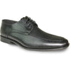 BRAVO Men Dress Shoe NEW KELLY-1 Oxford Shoe Black Matte - Wide Width Available