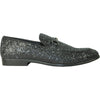 BRAVO Men Dress Shoe PROM-1 Loafer Shoe for Prom & Wedding Black