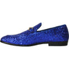 BRAVO Men Dress Shoe PROM-1 Loafer Shoe for Prom & Wedding Blue
