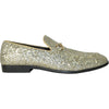 BRAVO Men Dress Shoe PROM-1 Loafer Shoe for Prom & Wedding Gold