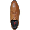 VANGELO Men Dress Shoe TAB-1 Oxford Formal Tuxedo for Prom & Wedding Light Brown - Wide Width Available
