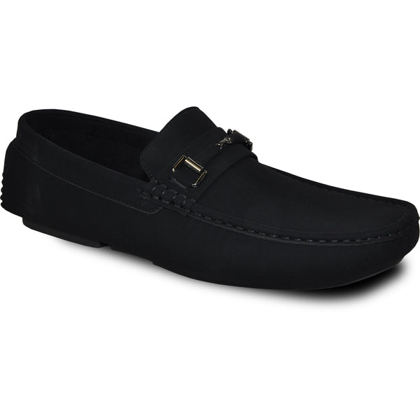 BRAVO Men Casual Shoe TODD-1 Driving Moccasin Black