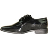 VANGELO Boy TUX-2KID Dress Shoe Formal Tuxedo for Prom & Wedding Black Patent
