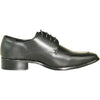 VANGELO Men Dress Shoe TUX-3 Oxford Formal Tuxedo for Prom & Wedding Black Matte - Wide Width Available