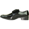 VANGELO Men Dress Shoe TUX-3 Oxford Formal Tuxedo for Prom & Wedding Black Patent - Wide Width Available