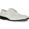 VANGELO Men Dress Shoe TUX-3 Oxford Formal Tuxedo for Prom & Wedding Ivory Patent - Wide Width Available