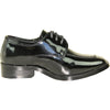 VANGELO Boy TUX-3KID Dress Shoe Formal Tuxedo for Prom & Wedding Black Patent
