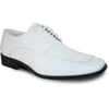 VANGELO Men Dress Shoe TUX-3 Oxford Formal Tuxedo for Prom & Wedding White Matte - Wide Width Available