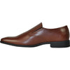 VANGELO Men Dress Shoe TUX-4 Loafer Formal Tuxedo for Prom & Wedding Brown Matte - Wide Width Available