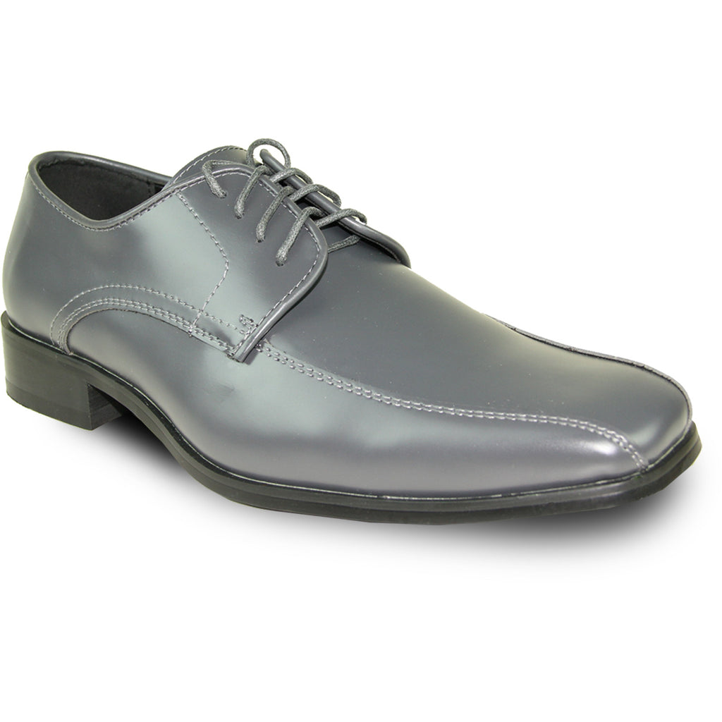 VANGELO Men Dress Shoe TUX-5 Oxford Formal Tuxedo for Prom & Wedding Iron Grey - Wide Width Available