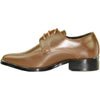 VANGELO Boy TUX-5KID Dress Shoe Formal Tuxedo for Prom & Wedding and School Uniform Saddle Brown