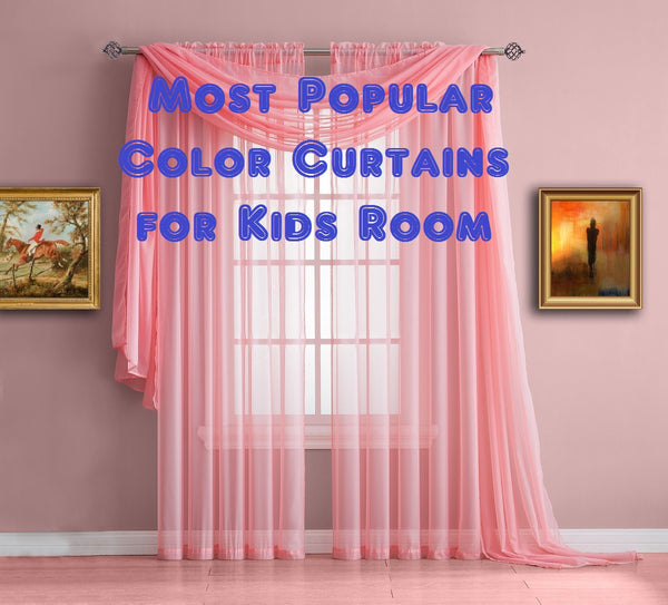 Most Popular Color Curtains for Kids Room