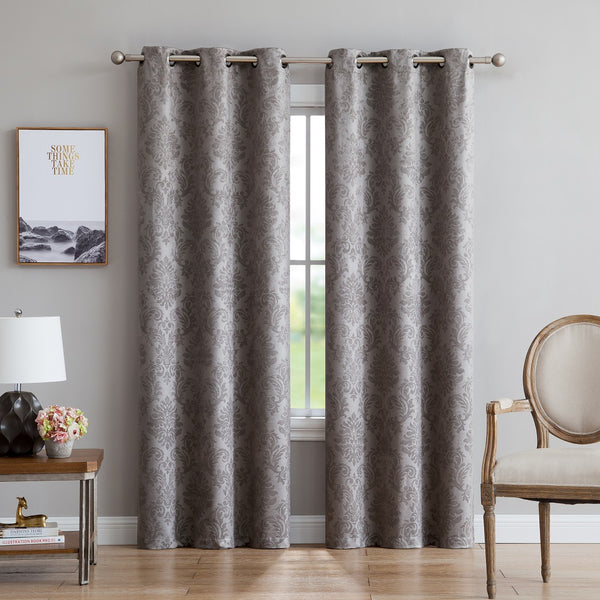 Warm Home Designs Embossed Textured Blackout Energy Efficient Curtains in 5 Colors & 9 Sizes