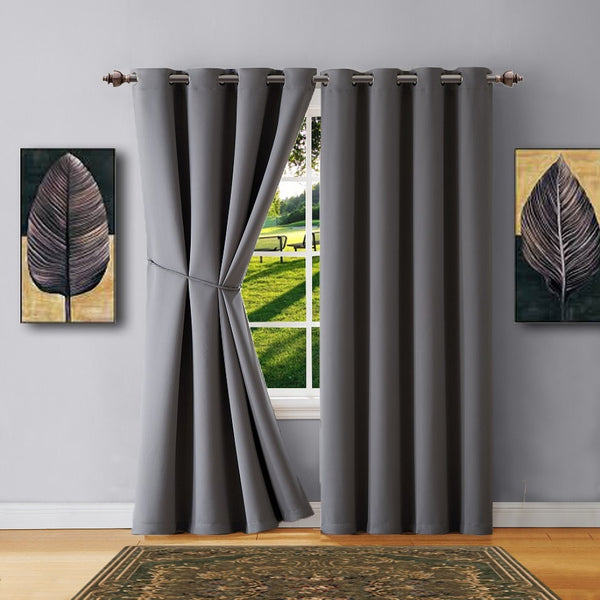 Warm Home Designs Blackout Curtains with Tie-Backs