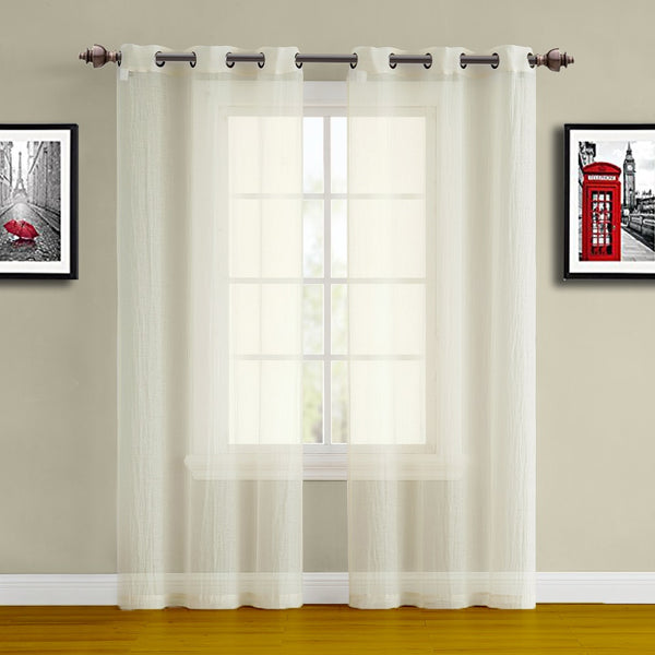 Crushed Semi-Crushed Window Curtains in 9 Sizes & 2 Colors
