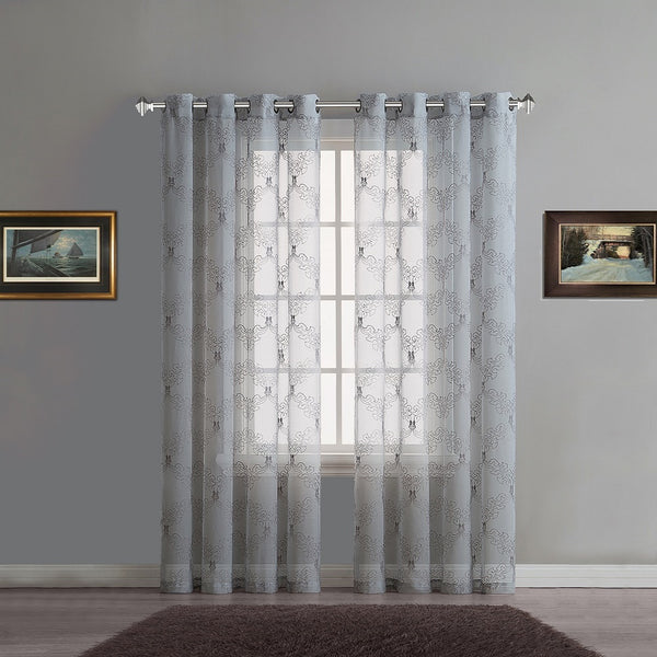 Warm Home Designs Sheer Embroidered Curtains
