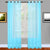 Aqua Blue Sheer Window Curtains