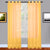 Yellow Sheer Window Curtains