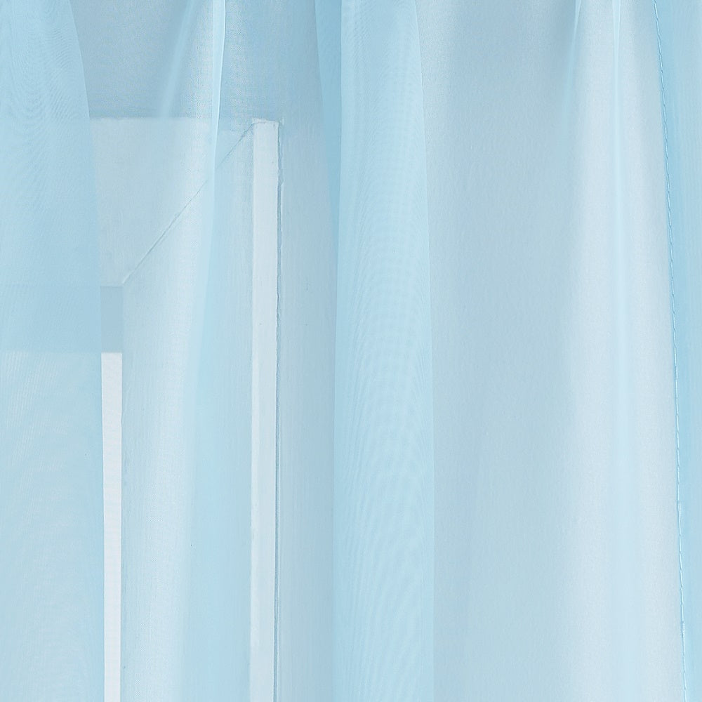 Warm Home Designs Pair of Baby Blue Sheer Curtains or Extra Long Window Scarf