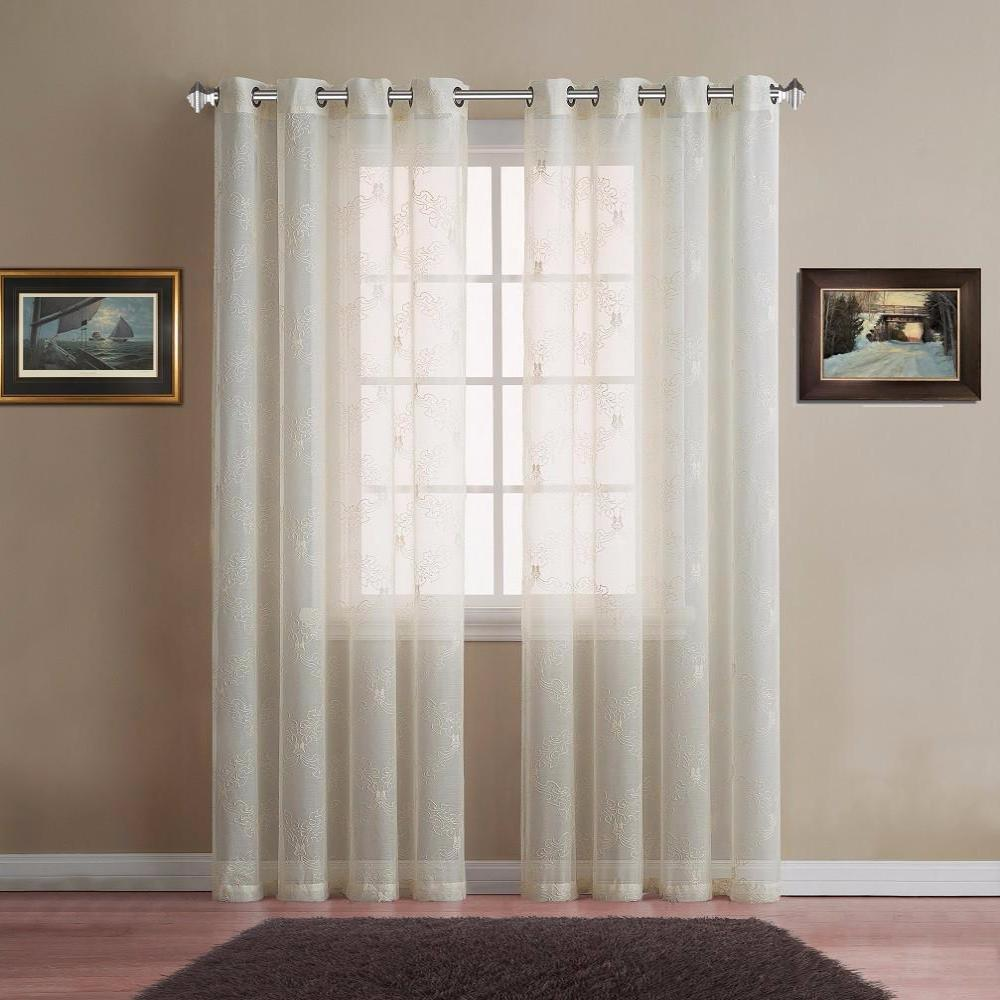 Warm home designs sheer beige curtain panels with beige for Sheer panel curtain ideas
