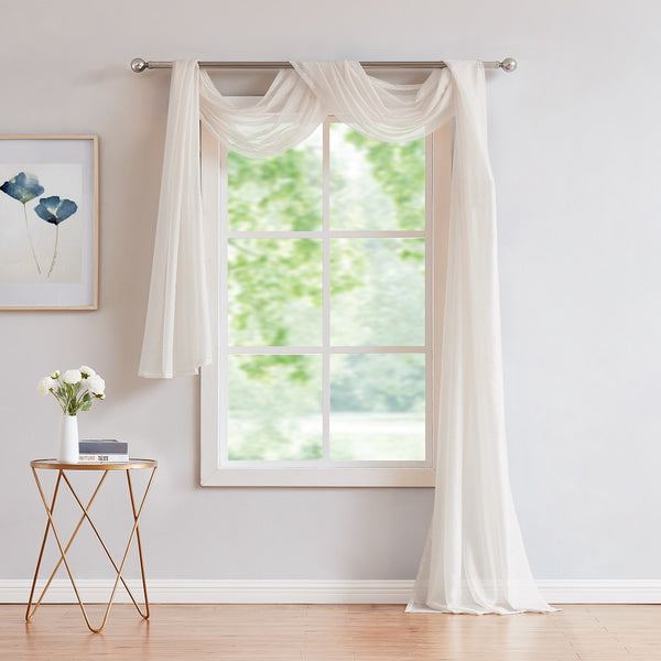 Warm Home Designs Beige Window Scarves & Sheer Beige Curtains: 7 Sizes