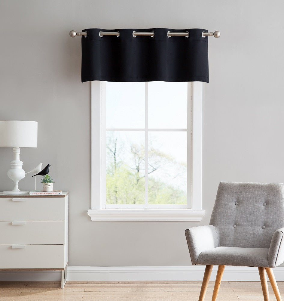 High Quality ... Black Blackout Curtains U0026 Valance Scarves With Matching Tie Backs ...