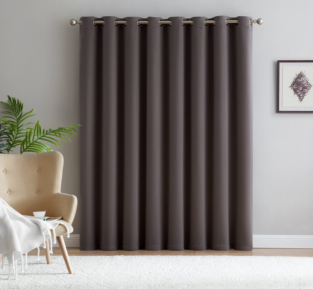 "Warm Home Designs Extra-Wide Blackout 102"" Charcoal Patio Door Curtains"