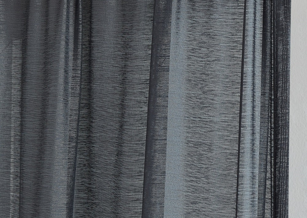 Warm Home Designs Premium Sheer Charcoal Window Scarves or Rod Pocket Sheer Charcoal Curtains