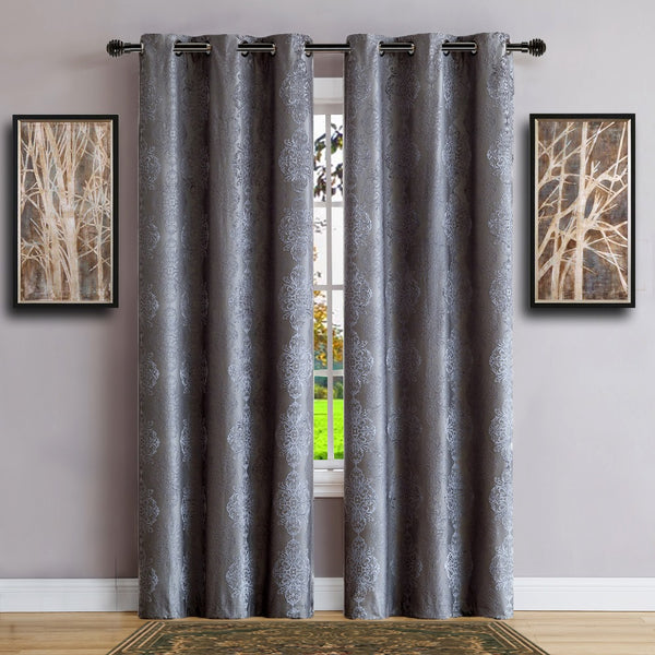Warm Home Designs 100% Blackout Charcoal Insulated Curtains in 4 Sizes