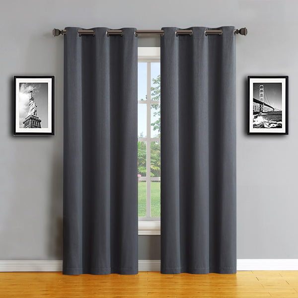 Warm Home Designs Charcoal Color 100% Blackout Curtains & Patio Panels