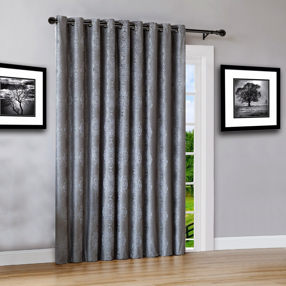 """Warm Home Designs 110"""" Wide Charcoal 100% Blackout Patio"""