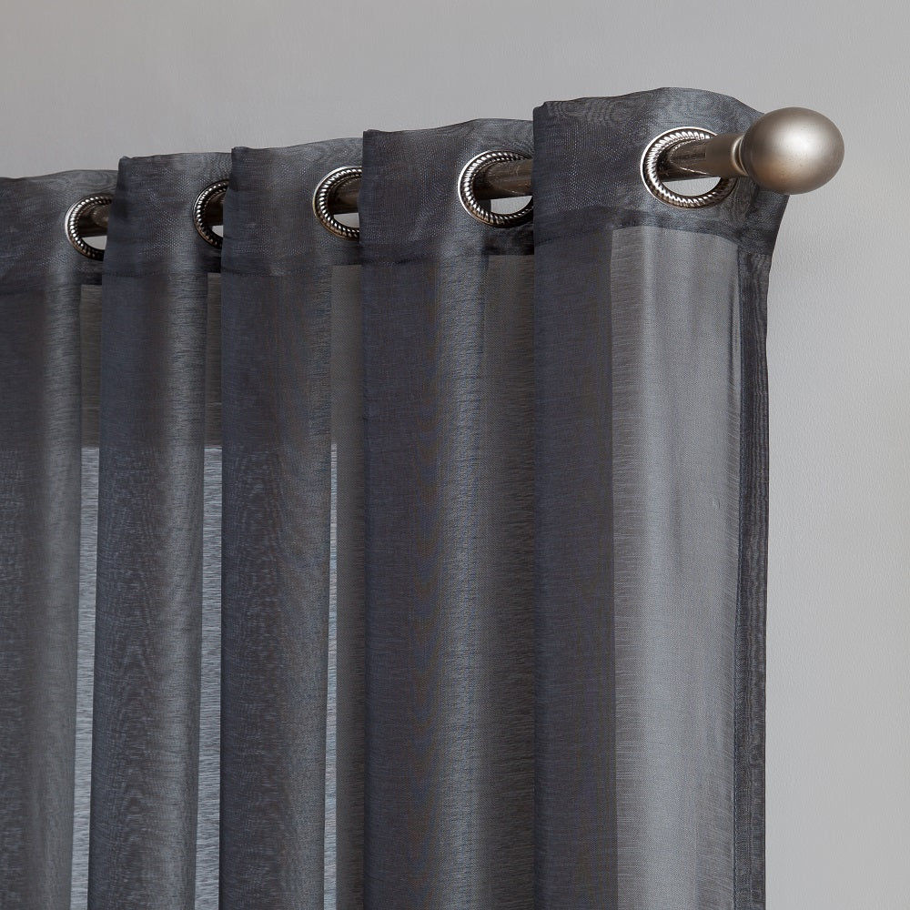 "Affordably Priced 102"" x 84"" or 102"" x 95"" Extra-Wide Charcoal Patio Door Curtains. Can Be Used as Sliding Door Drapes, Extra Large Curtains or Room Dividers."