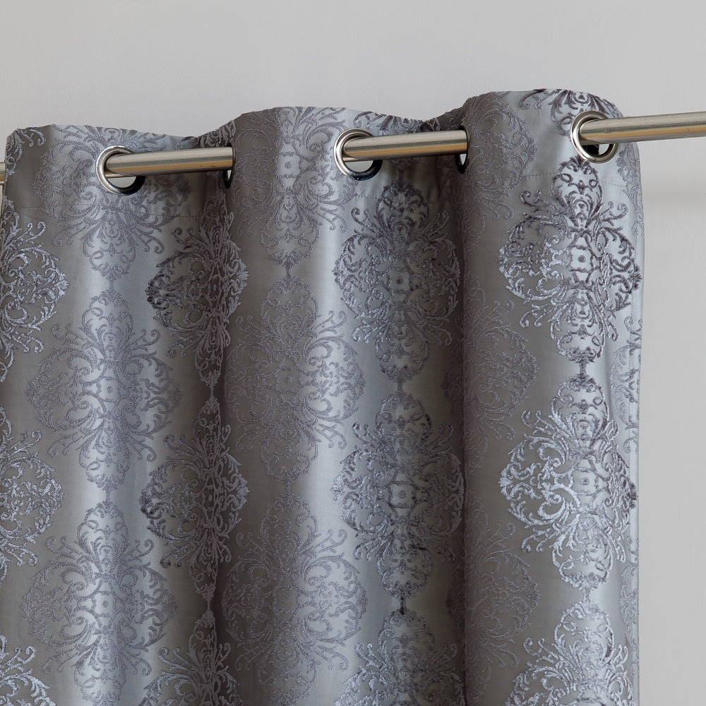 Warm Home Designs Textured 100% Blackout Charcoal Insulated Curtains in 4 Sizes