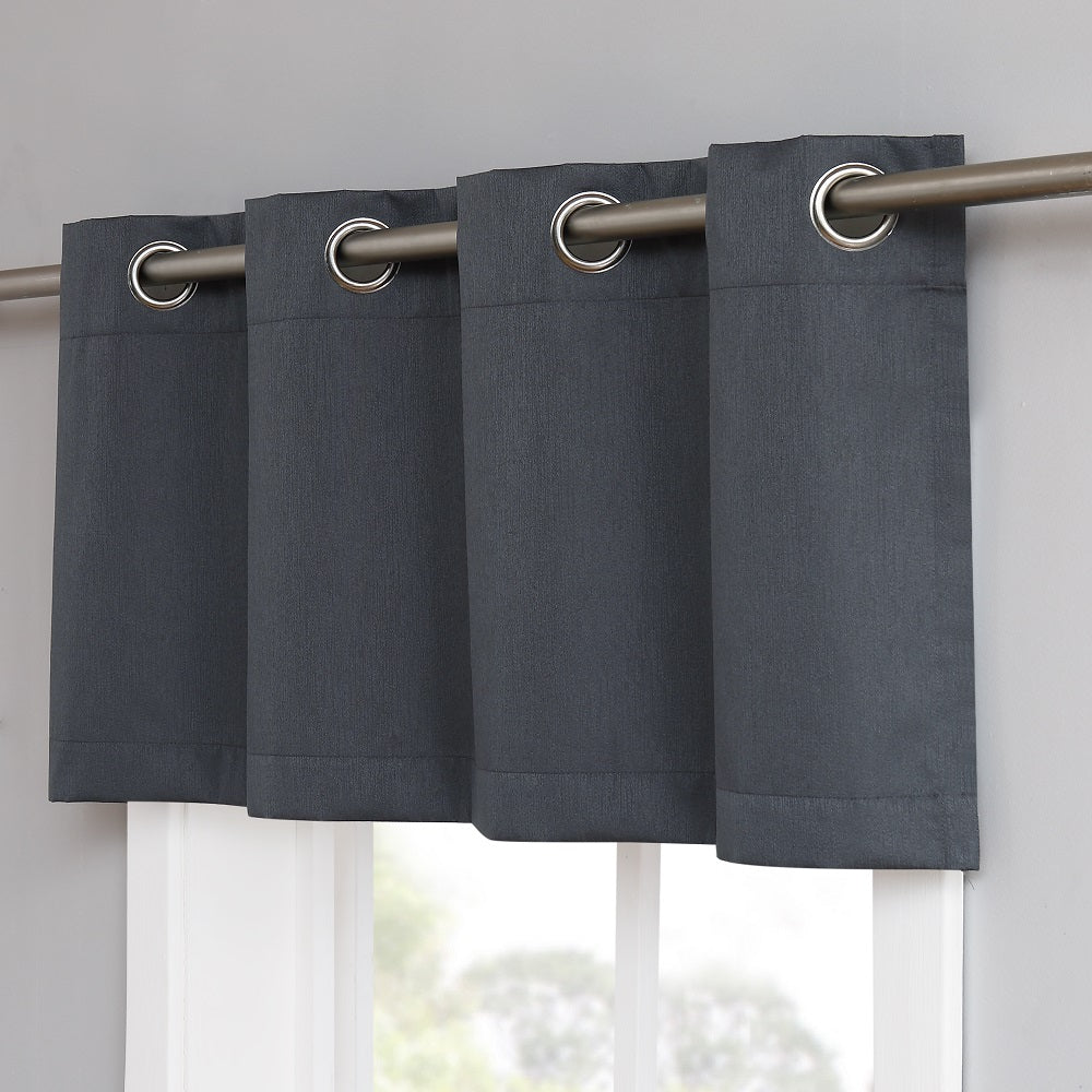Warm Home Designs 100% Blackout Charcoal Valance