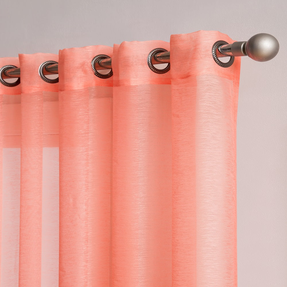 "Affordably Priced 102"" x 84"" or 102"" x 96"" Extra-Wide Coral Pink Patio Door Curtains. Can Be Used as Sliding Door Drapes, Extra Large Curtains or Room Dividers."