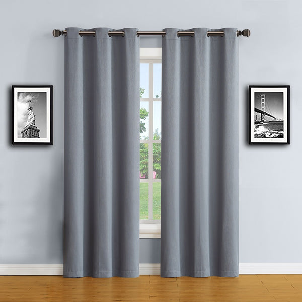 Warm Home Designs Dusty Blue 100% Blackout Curtains & Patio Panels
