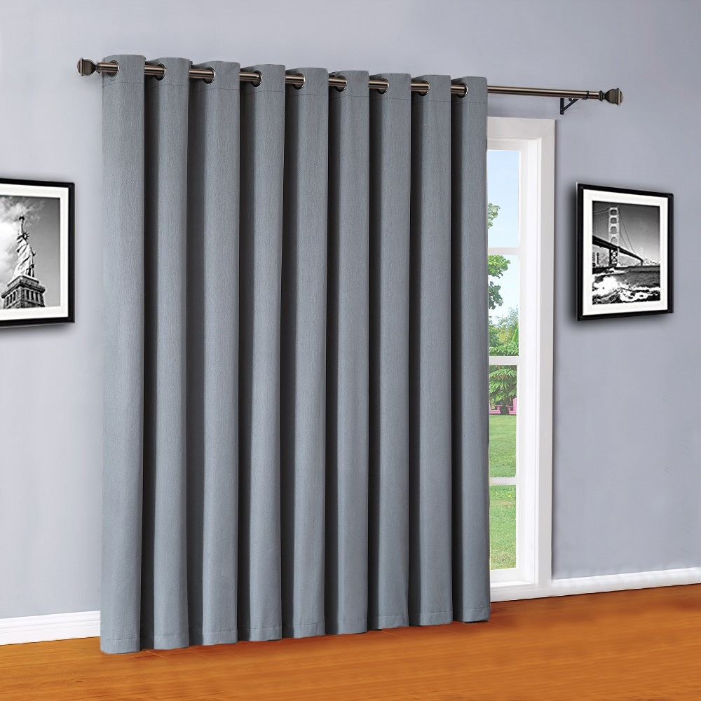 Warm Home Designs Dusty Blue Sliding Patio Door Curtain Panel