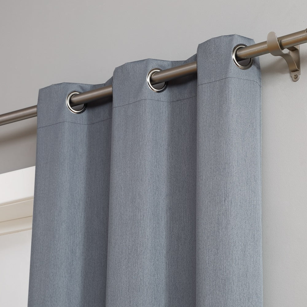 Warm Home Designs 100% Blackout Insulated Thermal Bedroom Curtains In Dusty Blue Color