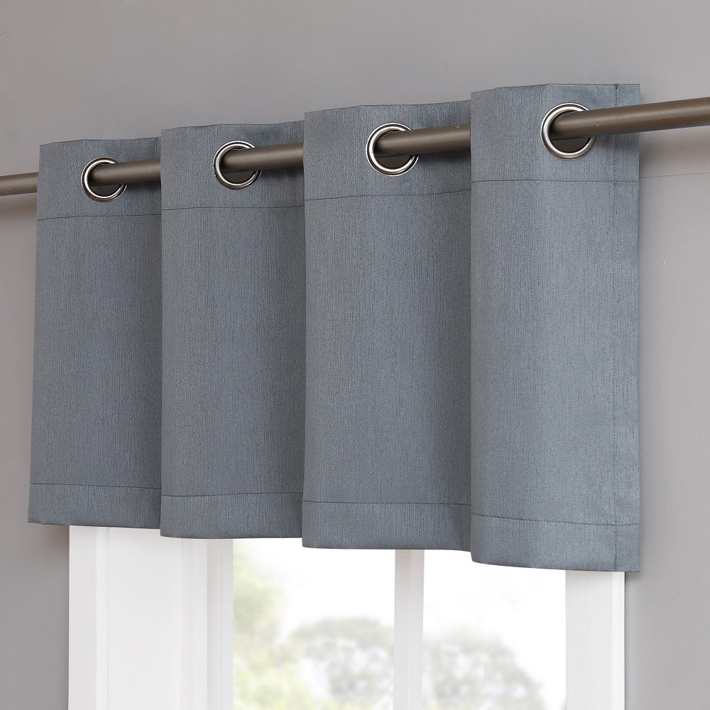 Warm Home Designs Dusty Blue Blackout Valance