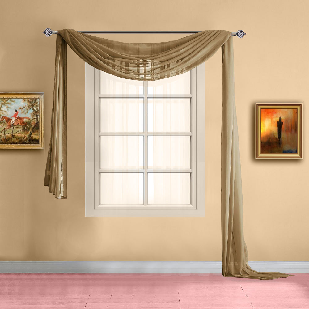 Warm Home Designs Gold Window Scarf Valance Sheer Gold Curtains Warmhomedesigns Com