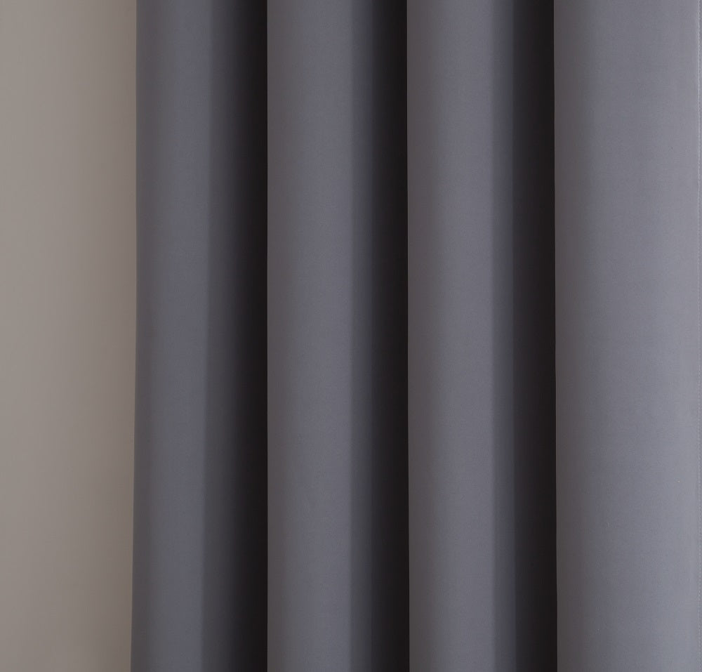 Warm Home Designs Pair of 2 Light Grey (Silver) Room Darkening Curtains with 2 Tie-Backs in 63, 84, 96 & 108 Inch Length