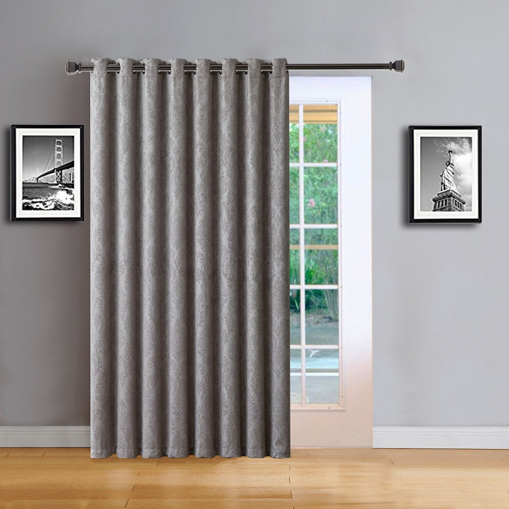 Love the Look and Feel of Your Curtains - Save on Warm Home Designs Embossed Textured Insulated Energy Efficient Silver Gray Blackout Curtains in 9 Sizes.