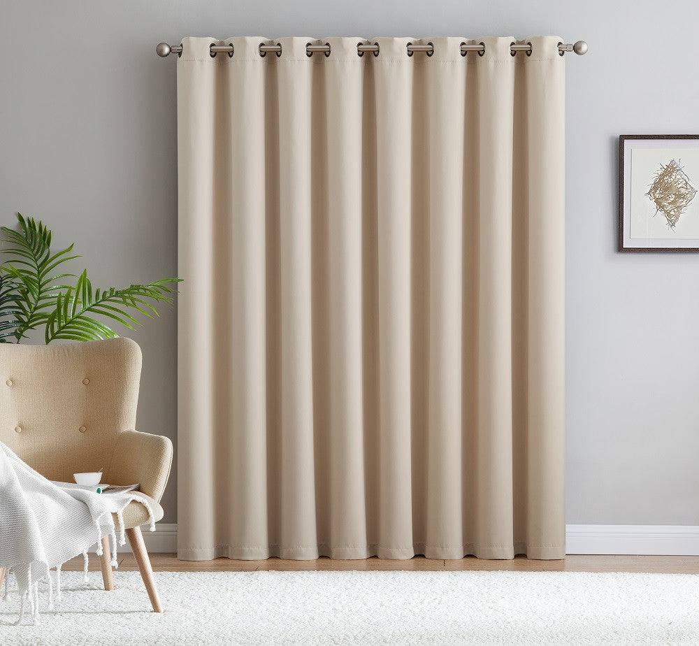 "Warm Home Designs Extra-Wide Blackout 102"" Ivory Patio Door Curtains"