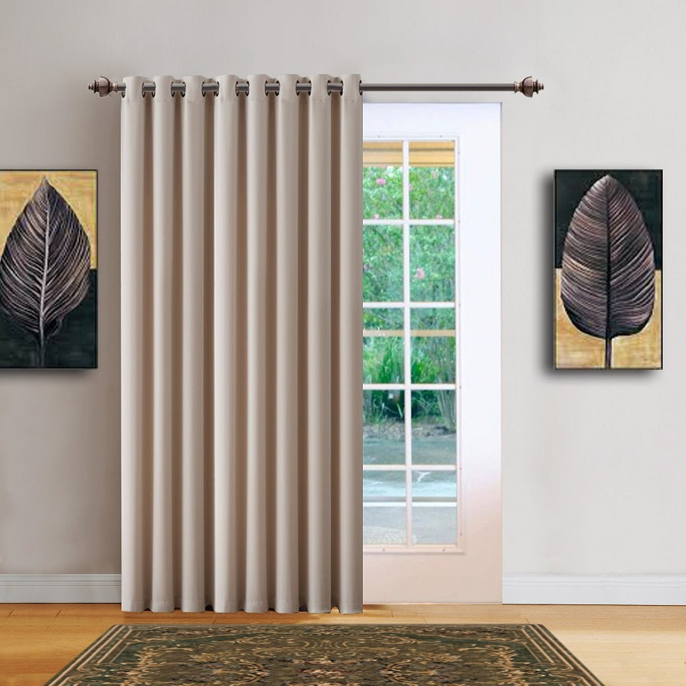 "Warm Home Designs 102"" Wide Ivory Room Dividers & Patio Door Curtains"