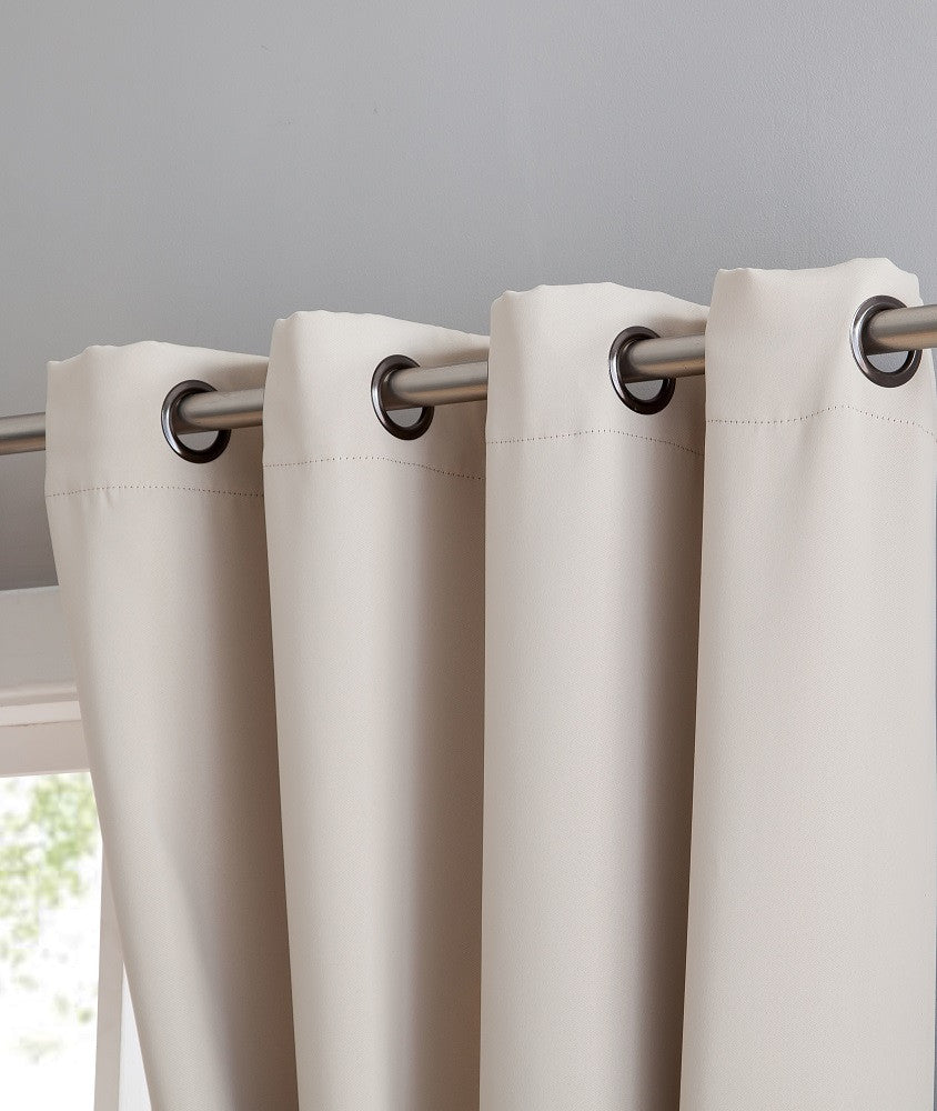 "Extra-Wide Blackout 102"" Ivory Patio Door Curtains or Room Dividers"